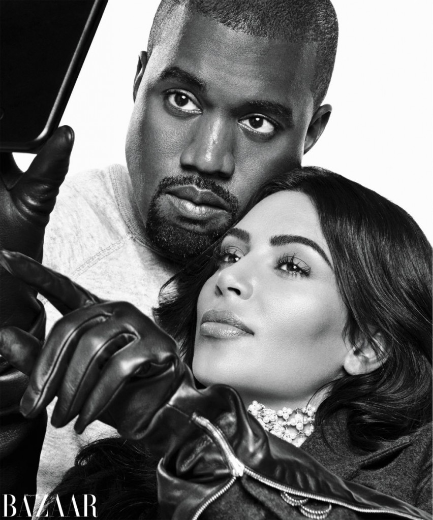 kim kardashian and kanye west by karl lagerfeld - why are there so many pictures of kanye west sleeping on social media