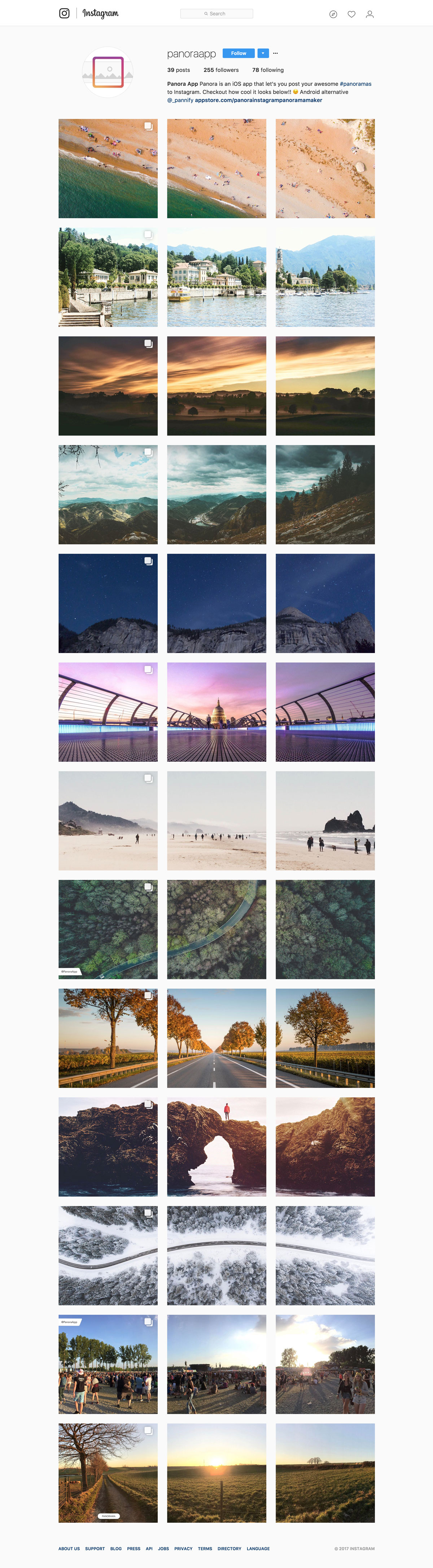 publish panoramas to instagram with panora