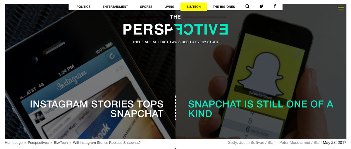 Get Two Sides To Every Story With The Perspective Snapchat versus Instagram Stories