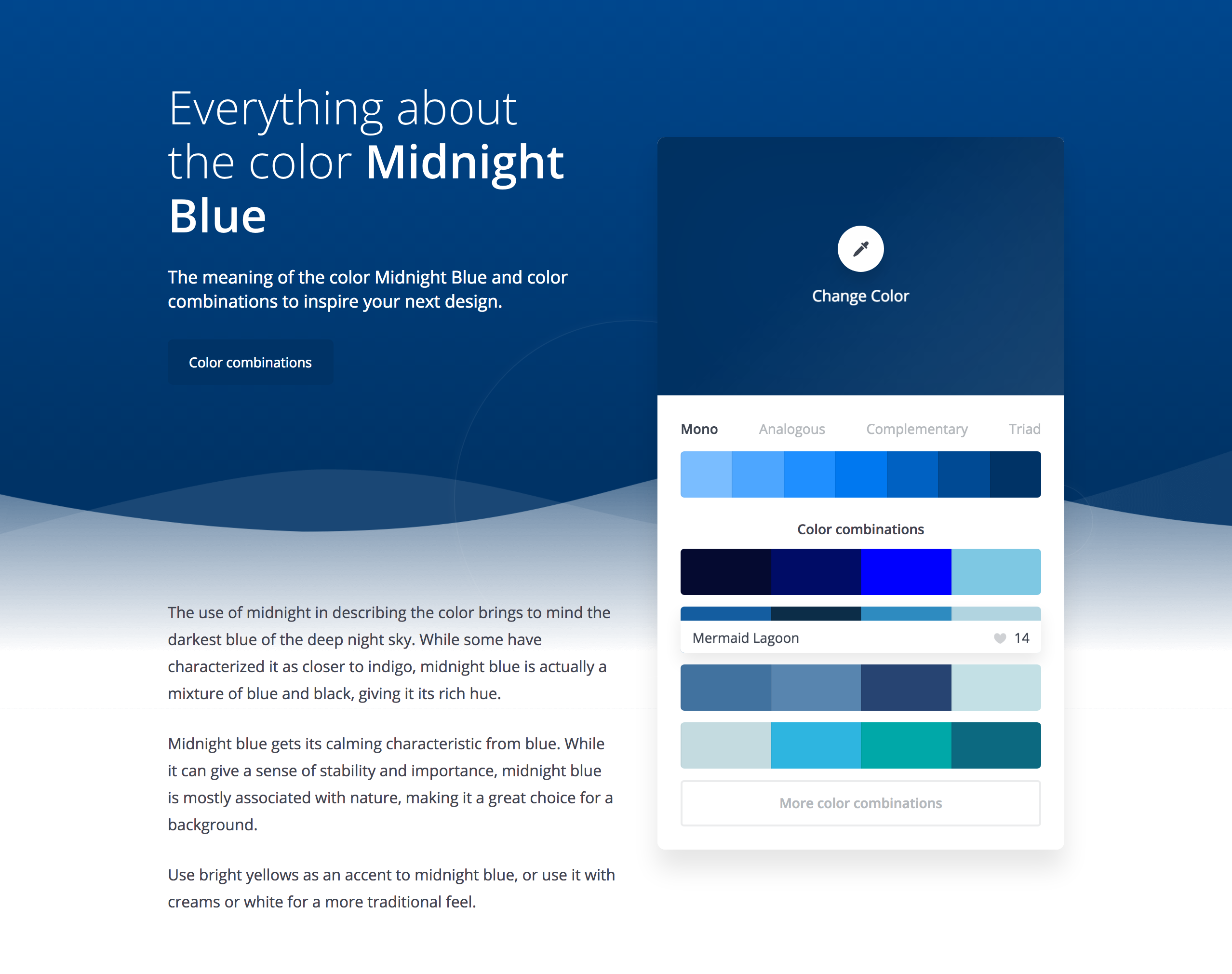 Learn Everything About Colors midnight blue example