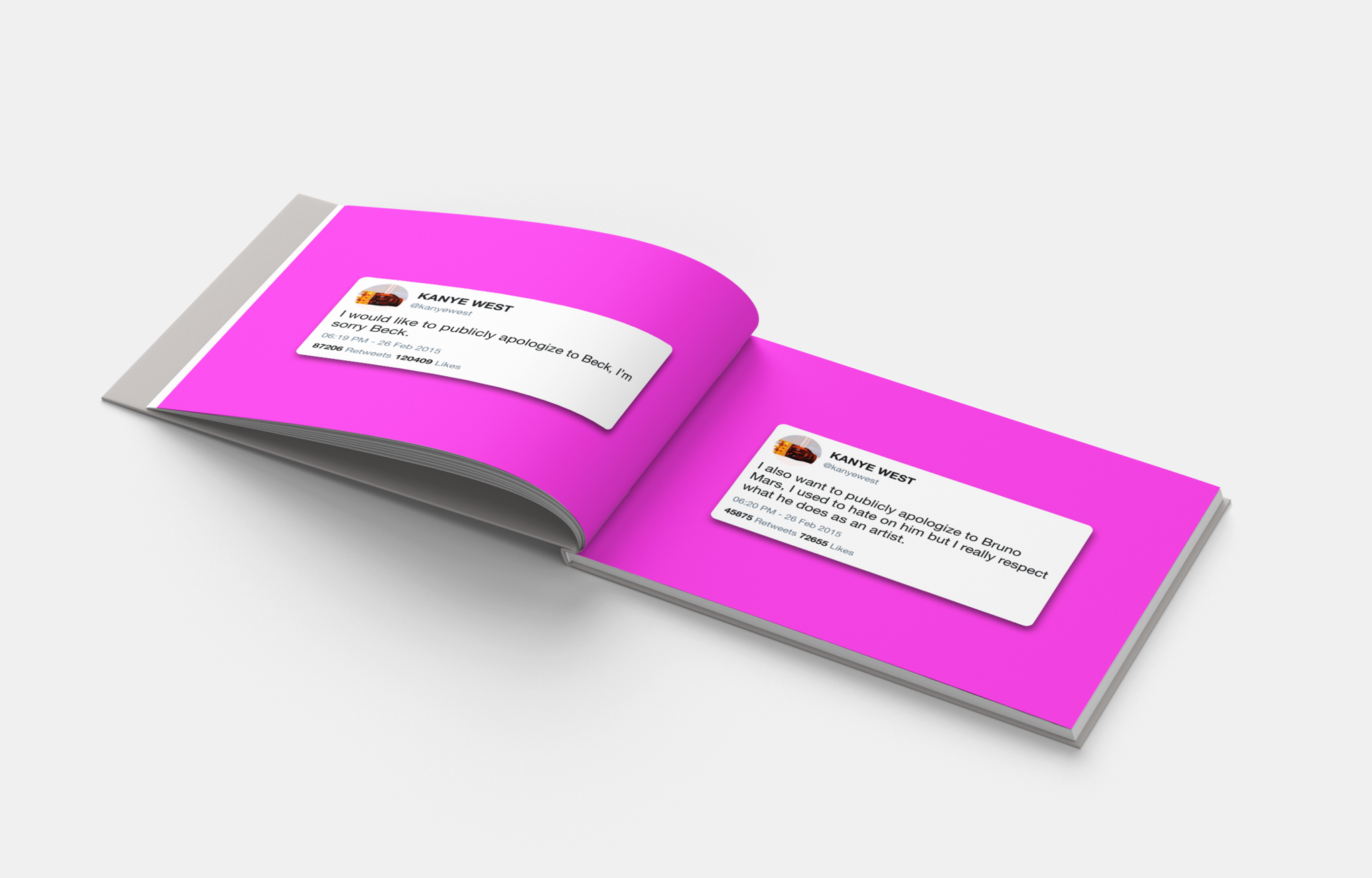 Get The Best Of Twitter Printed On Beautiful Photobooks Kanye West Book