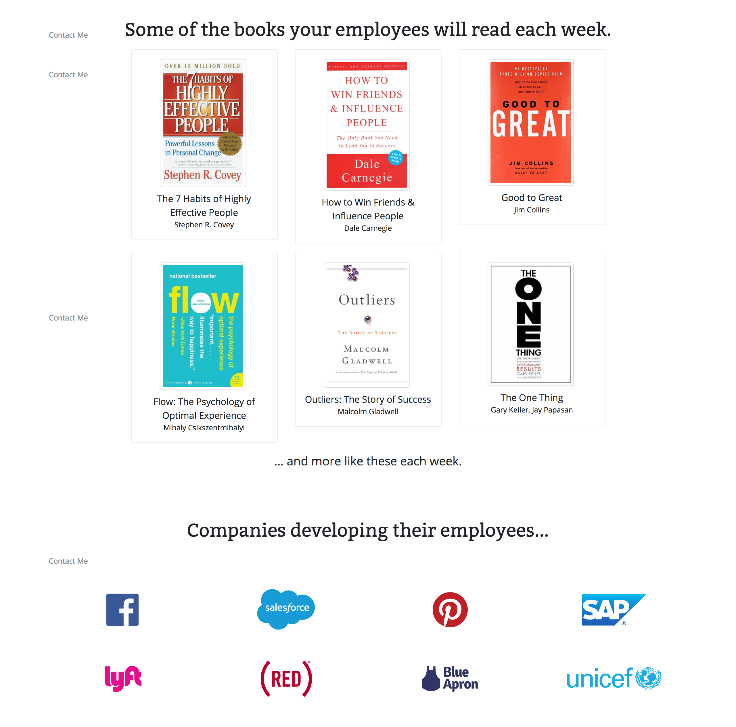 Get Your Team Weekly Email Book Summaries BooksAtWork Screenshot