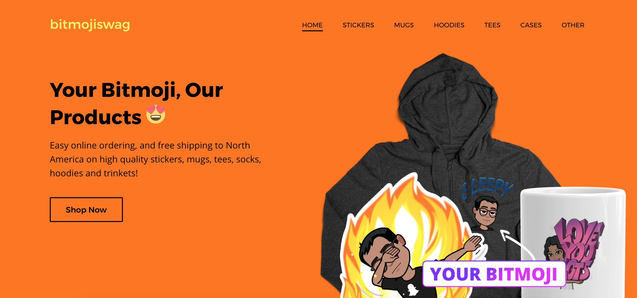 Create Custom Merch With Bitmoji Swag Homepage Screenshot
