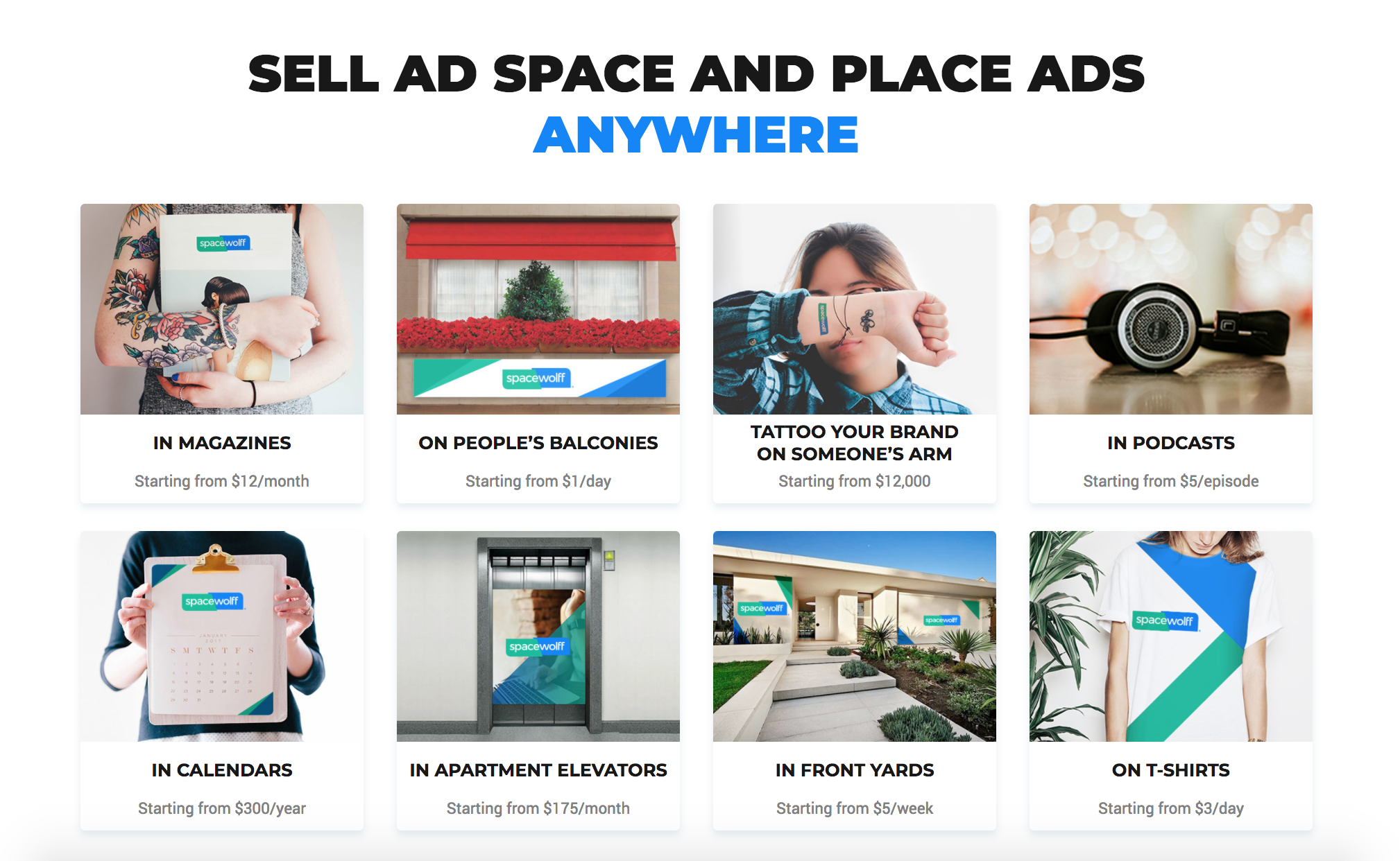 Hack Advertising With This Ad Marketplace Spacewolff Ad Placements